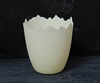 Кашпо пластиковое айвори 10 см