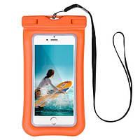 Чехол для смартфона водонепроницаемый Dutik оранжевый, фото 1