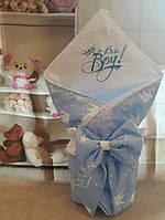 Конверт с вышивкой и кружевом для новорожденных, фото 1