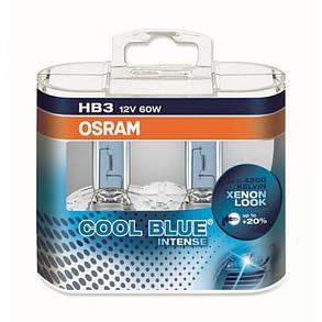 Автолампа OSRAM 9005CBI Cool Blue Intense HB3 60W 12V P20d 10X2 HardDuopet, фото 2