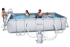 Каркасный прямоугольный бассейн BestWay 56255 (404*201*100 см) с песочным фильтром