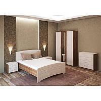 Спальня «Флоренция 2», орех французский/клен