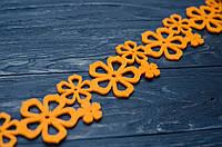 Лента флизелин оранжевая 5,5*190 см, фото 1