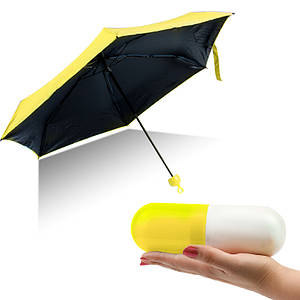 Компактный зонт-капсула Capsule Umbrella желтый 149505