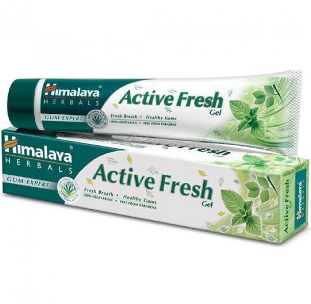 Зубная паста при воспалении и кровоточивости Актив Фреш, Хималая, Himalaya Active Fresh Gel Toothpaste,80 мл