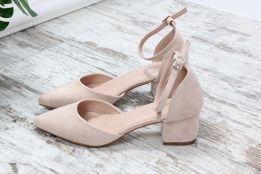 Туфли на небольшом каблуке беж