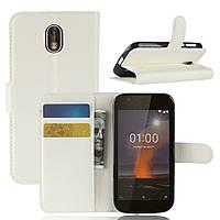 Чехол-книжка Litchie Wallet для Nokia 1 Белый