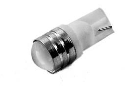 Светодиодная лампа AllLight T10  1 диод LAS 2W W2,1x9,5d 12V с линзой