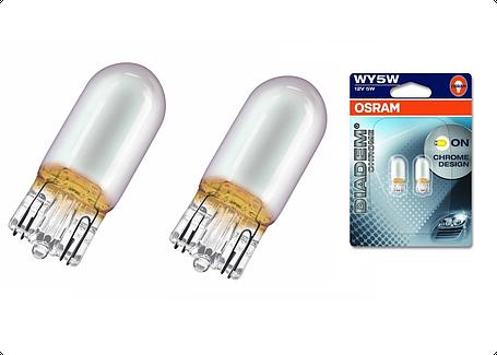 Автолампи кк. OSRAM 2827DC-02B Diadem Chrome WY5W 12V W2,1X9,5D 10X2 Blister, фото 2