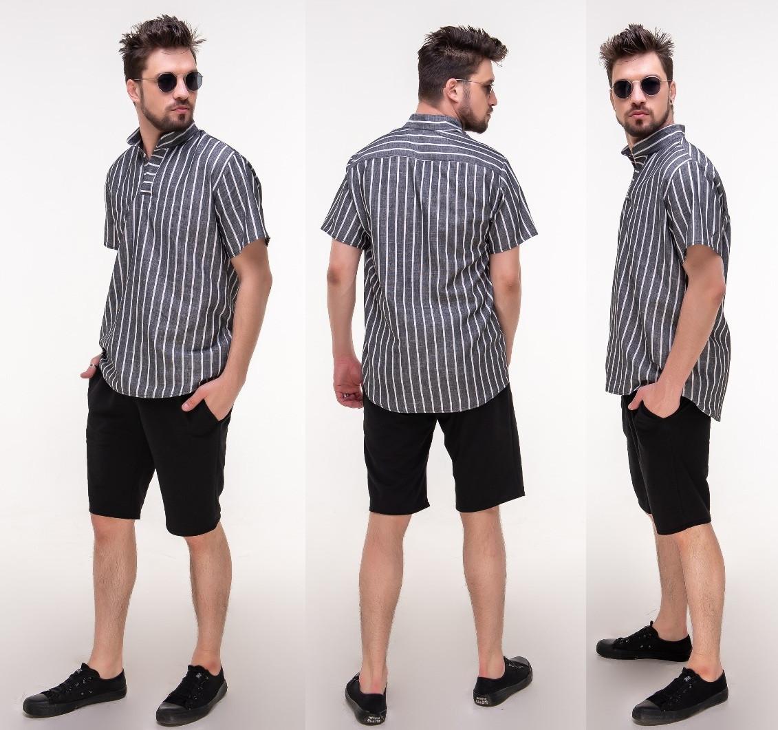5c14be3cb Мужской летний костюм: шорты с рубашкой. - S&V Одежда оптом и в розницу в