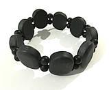 Браслет из Шунгита, натуральный камень, цвет черный, тм Satori \ Sb - 0197, фото 2