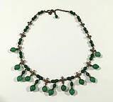 Колье из Хризопраза и Нефрита, натуральный камень, бронза, тм Satori \ Sk - 0005, фото 2