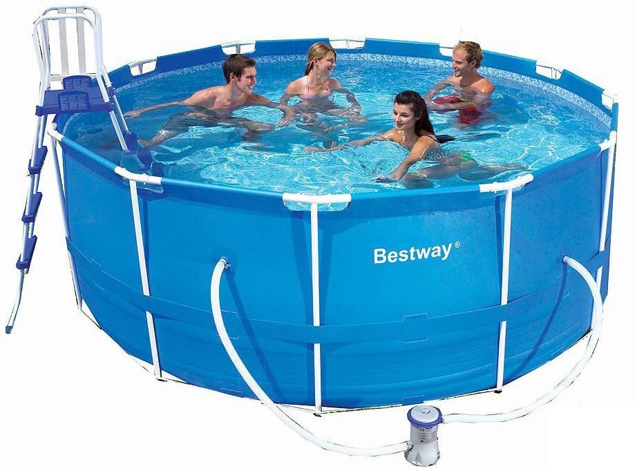 Каркасный круглый бассейн BestWay 13898 (366x122 см) с картриджным фильтром