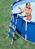 Каркасный круглый бассейн BestWay 13898 (366x122 см) с картриджным фильтром, фото 4