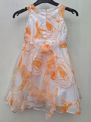 Платье-сарафан для девочек Оранжевая роза, фото 2