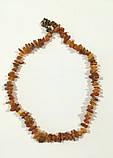 Комплект из Янтаря крошка, бусы - браслет , натуральный камень, бронза, тм Satori \ Sn - 0015, фото 3