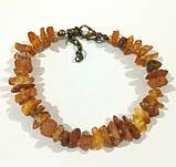 Комплект из Янтаря крошка, бусы - браслет , натуральный камень, бронза, тм Satori \ Sn - 0015, фото 2