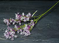 Ветка мелкоцвет премиум бело-фиолетовый, фото 1