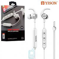Bluetooth наушники с микрофоном Yison E6 белые