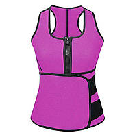 Коригувальний жилет SUNROZ Neoprene Sauna Sweat Waist Trainer для схуднення 3XL Фіолетовий (SUN3760)