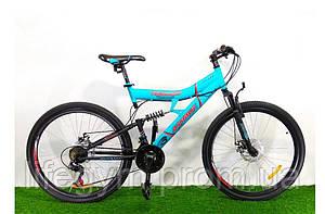 Горный велосипед АЗИМУТ ТОРНАДО Azimut Tornado 26 D +(OD) бирюзовый