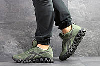 Кроссовки мужские Reebok Zignano в стиле Рибок Зигнано, текстиль, текстиль код SD-7566. Темно-зеленые