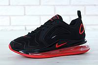Кроссовки мужские Nike Air Max 720 реплика ААА+ размер 41-45 черный (живые фото), фото 1