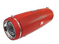 Портативная колонка JBL LEATHER DRUM mini 2+, speakerphone, радио  Красный
