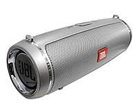 Портативная колонка JBL LEATHER DRUM mini 2+, speakerphone, радио  Серебристый
