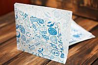 Упаковка бумажная для блинов с печатью 34