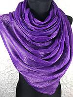 Женский фиолетовый шелковый шарф- купить на Kosinka.net
