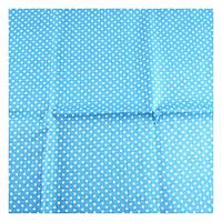 Ткань голубая Горошек белый 50х53 см