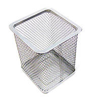 Стакан для ручек Josef Otten 80x80х95мм метал. сетка прямоугольная 3545_Серебро