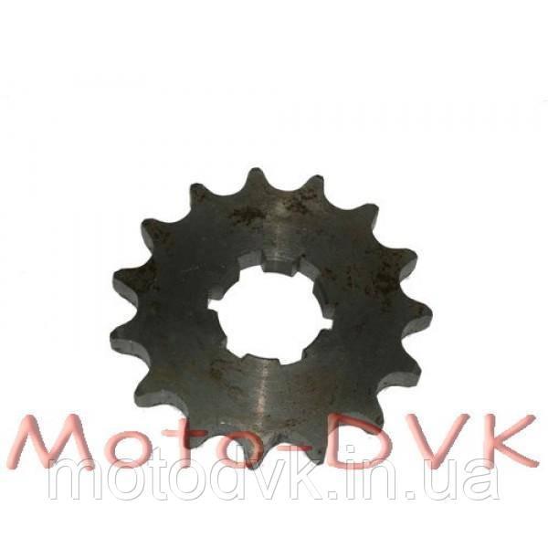Звезда передняя 15 зубъев на мотоцикл Ява 12в