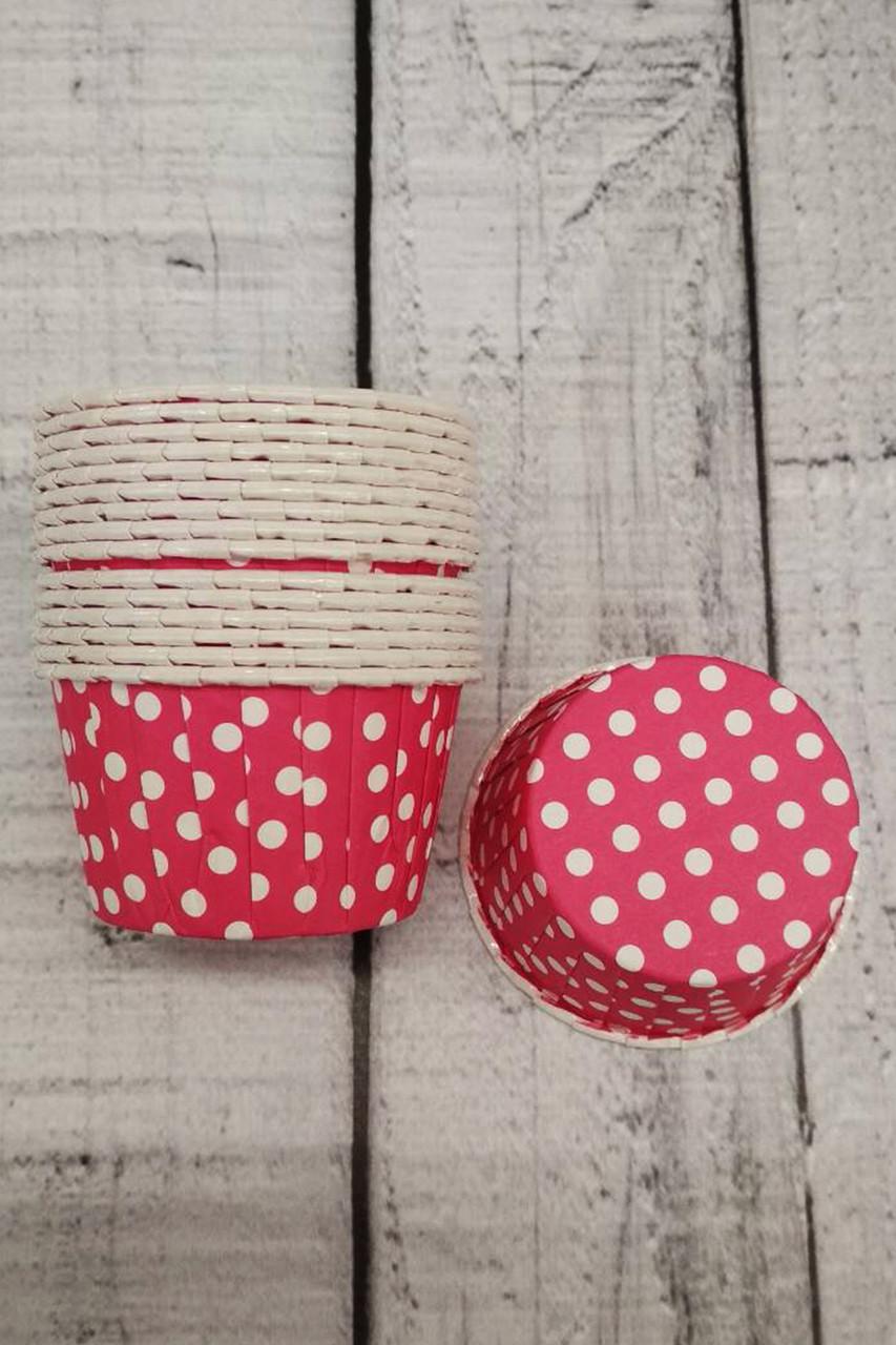 Формы бумажные для кексов усиленные с бортиком красные, 50*35 мм
