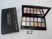 Тени МАС 12 цветов, №02 Mac Cosmetics