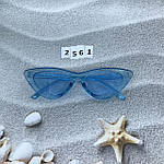 Модные голубые ретро-очки, фото 3