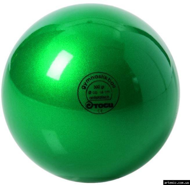 Мяч гимнастический глянцевый  300гр Togu, Германия Зелёный