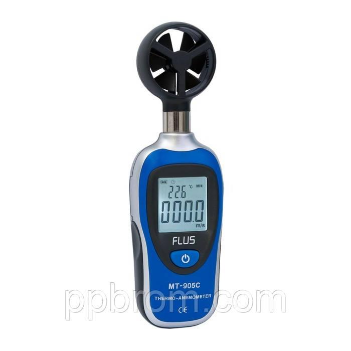 """Анемометр с термометром Flus """"MT-905C"""" (0,4...30 м/с)"""