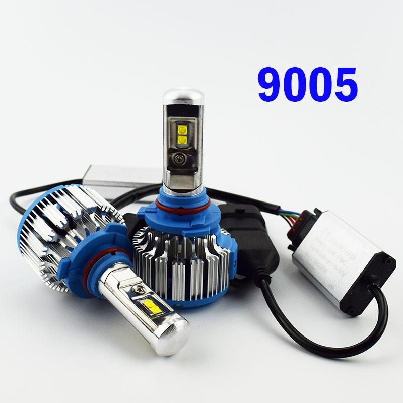 Комплект LED ламп TurboLed T1 HB3 6000K 50W 12/24v CanBus с активным охлаждением