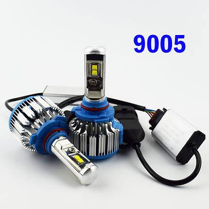 Комплект LED ламп TurboLed T1 HB3 6000K 50W 12/24v CanBus с активным охлаждением, фото 2