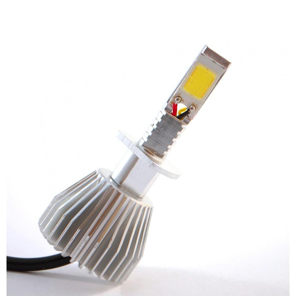 Комплект LED ламп F8 H1 12-24V COB (радиатор)