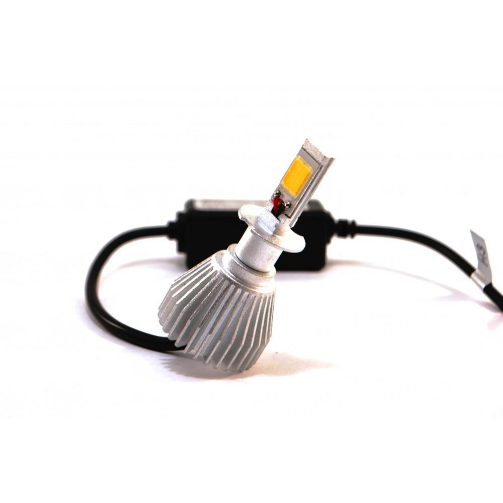 Комплект LED ламп F8 H3 12-24V COB (радиатор)