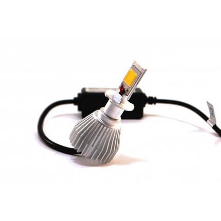 Комплект LED ламп F8 H3 12-24V COB (радиатор), фото 2