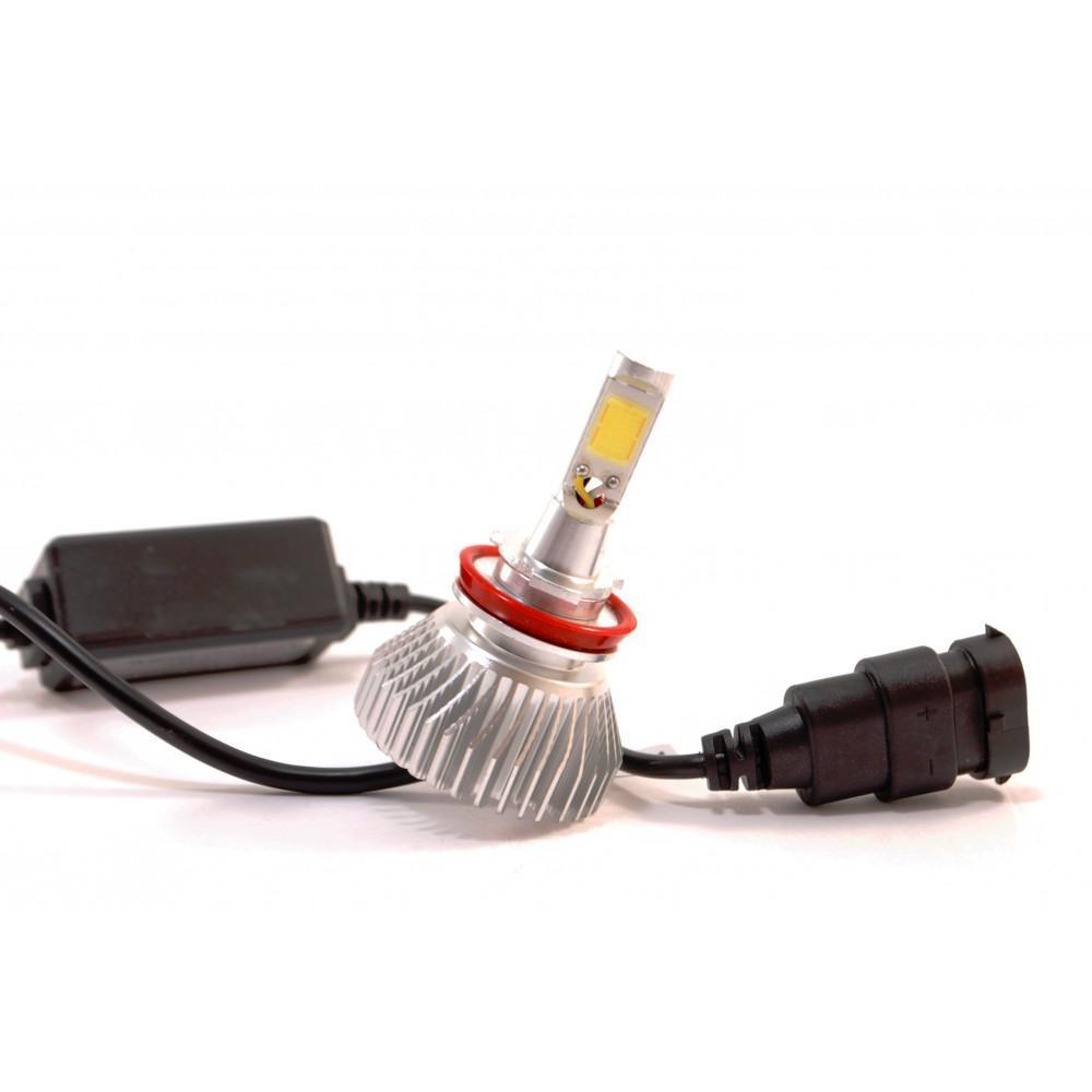 Комплект LED ламп F8 H11(H8/H9/H16) 12-24V COB (радиатор)