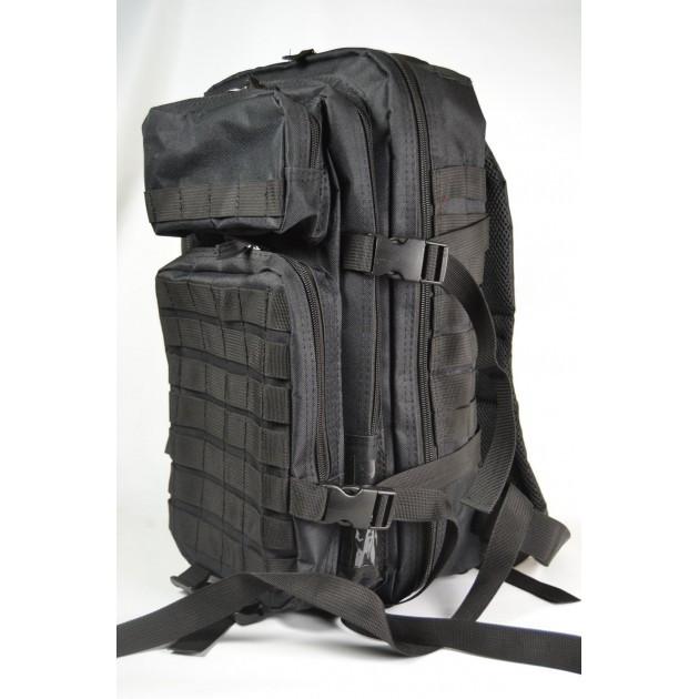 Тактичний чорний рюкзак 45 літрів (тактический черный рюкзак)