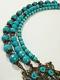 Комплект из Бирюзы Небесное величие колье + браслет, натуральный камень, тм Satori \ Sn - 0042, фото 6