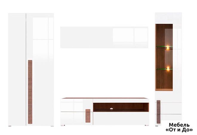 Модульная гостиная Доменика Комплект 3.0 со шкафом