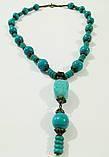 Набор из Бирюзы колье + браслет, натуральный камень, тм Satori \ Sn - 0043, фото 3