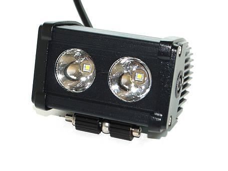 Светодиодная фара AllLight D-20W 2chip CREE spot 9-30V нижний крепеж, фото 2